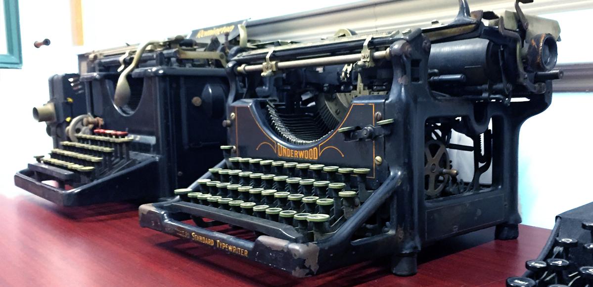McGoughran Law Typewriter